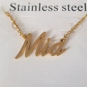 Jewelry - Mia Name Nameplate Gold Necklace B32